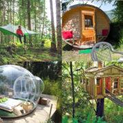 Dormire in luoghi da fiaba. Il nuovo camping da sogno tra case sull'albero, botti abitabili, tende sospese e bolle trasparenti